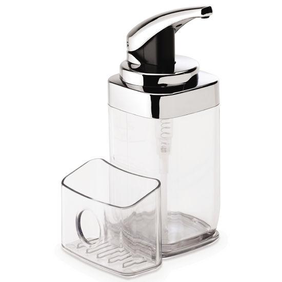 Soap dispenser simplehuman square push pump with caddy chrome 22 fl oz free shipping - Simplehuman shampoo soap dispensers ...