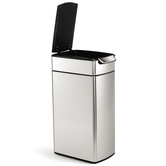 Trash can simplehuman slim touch bar trash can for Simplehuman trash can