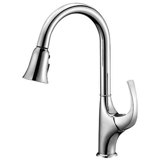 Solid Brass Construction Sks Ab043277 Single Lever Pull Out Spray Kitchen Faucet With 1 Sink