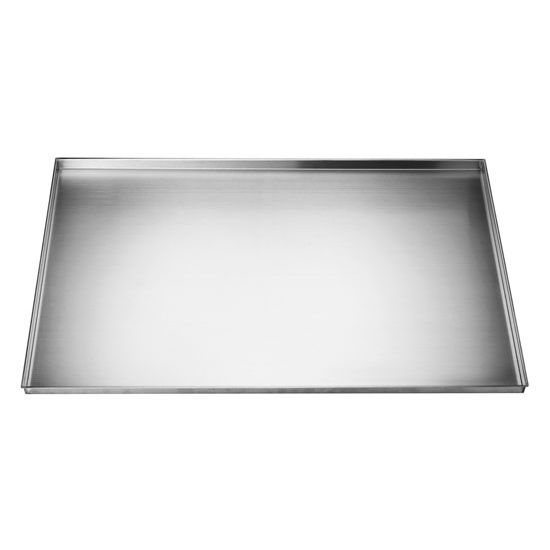 Stainless steel 34 39 39 w under sink tray sks 0342201 by dawn for Under sink cabinet tray