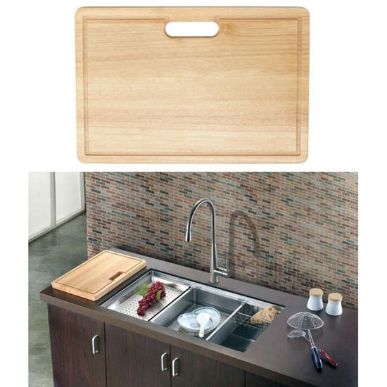 Dawn® Cutting Board in Natural Wood, 17-7/16'' W x 11-13/16'' D x 1-1/8'' H