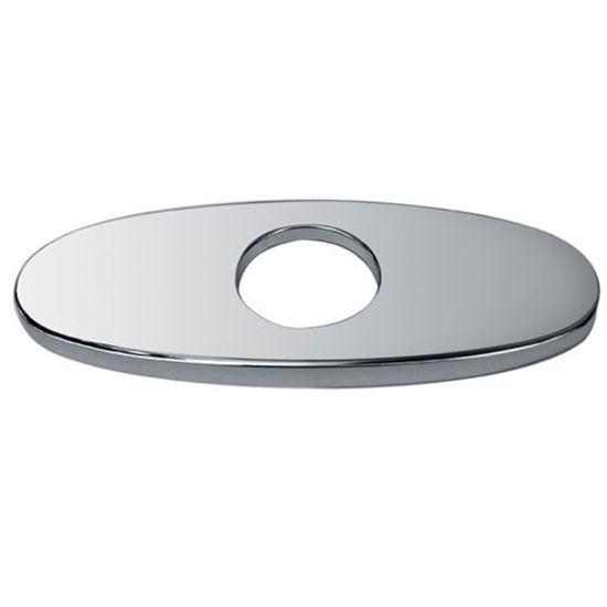 Dawn® 6'' Escutcheon Plate in Chrome, 5-7/8'' W x 2-1/4'' D x 1/4'' H