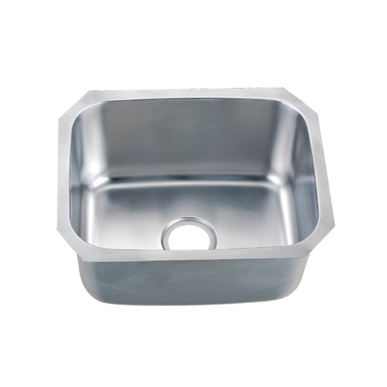 "Dawn Sinks Single Series 18-Gauge Stainless Steel Undermount Sink, 20-7/8"" W x 16-7/8"" D x 9-5/8"" H"