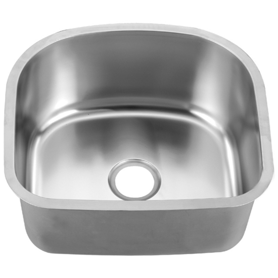"Dawn Sinks Single Series Stainless Steel Undermount Sink, 22"" W x 20"" D X 10"" H"