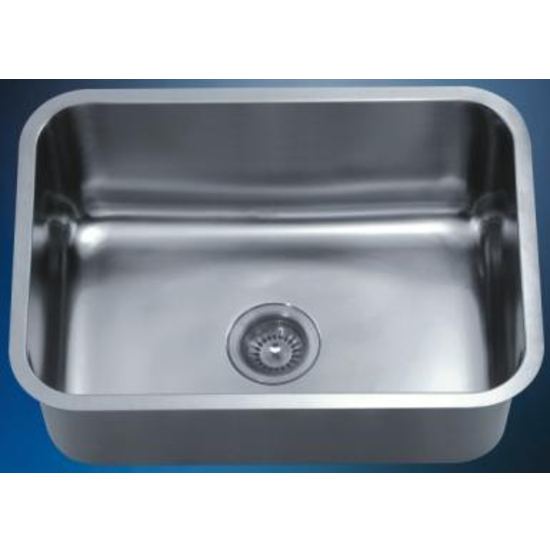 "Dawn Sinks Single Series Stainless Steel Undermount Sink, 25"" W x 18-1/8"" D x 10"" H"