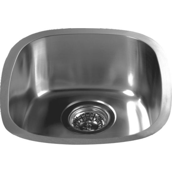 """Dawn Sinks Bar Sink Series Stainless Steel Undermount Bar Sink, 13-1/2"""" W x 15-1/8"""" D X 6-1/8"""" H"""
