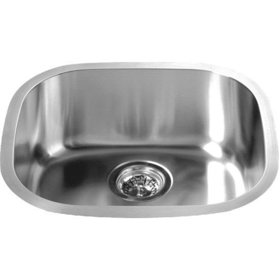 "Dawn Sinks Single Sink Series Stainless Steel Undermount Sink, 18-3/16"" W x 16-5/8"" D X 7-1/4"" H"
