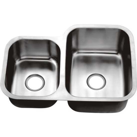 "Dawn Sinks Combination Series 30"" W Stainless Steel Undermount Double Bowl Sink"