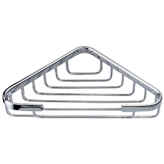 "Dawn Sinks Basket Series Triangle Soap Basket, 5-1/2"" W x 5-1/2"" D , Chrome"
