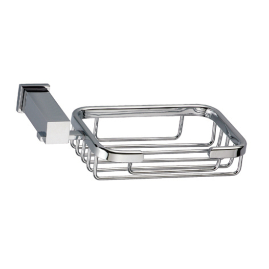Dawn Sinks Square Series Soap Basket, Chrome