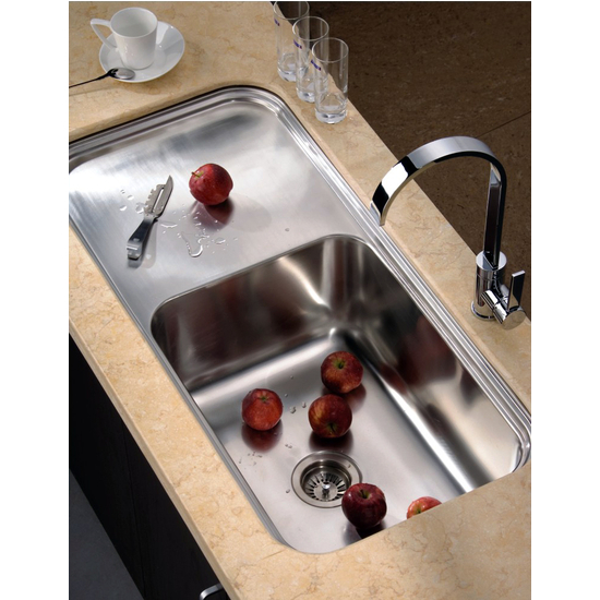 "Dawn Sinks Single Series Stainless Steel Undermount Sink, 41-3/8"" W x 19-3/4"" D x 11-3/8"" H"