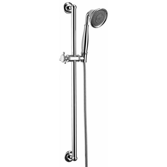 Dawn Sinks Multifunction Handshower with Shower Hose and Slide Bar, 5 Spray Settings- Massage, Rain, Bubble, Chrome