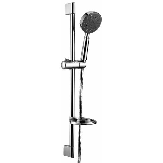 Dawn Sinks Multifunction Handshower with Shower Hose and Slide Bar, 3 Spray Settings- Massage, Rain, Mist, Chrome