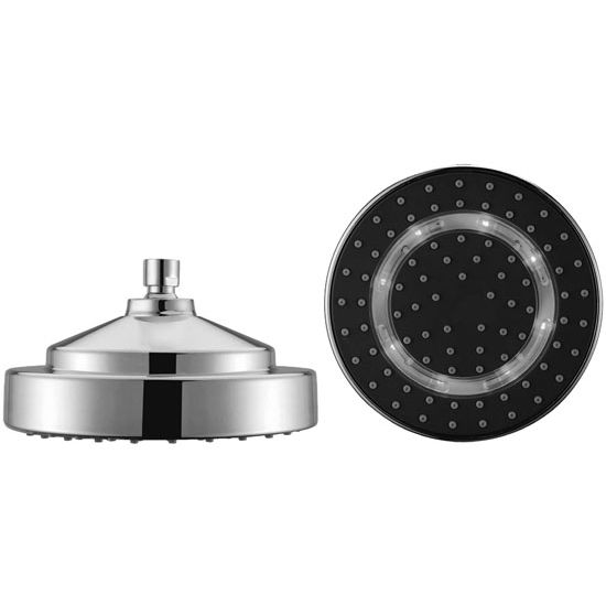 Dawn Sinks Single Function Ceiling Showerhead, 1 Spray Setting- Rain, Chrome