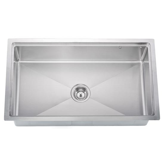 Dawn Sinks Undermount 18 Gauge Small Radius Single Bowl Kitchen Sink