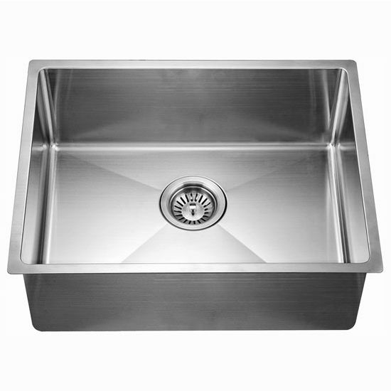 "Dawn Sinks® Kitchen Stainless Steel Undermount Extra Small Corner Radius Rectangle Single Bowl in Polished Satin Finish, 21-7/8"" W x 17-3/16"" D x 8-11/16"" H"