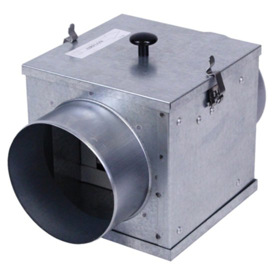 "S&P Filter Box For 4"" - 6"" Diameter Duct Connector with MERV8 Filter"