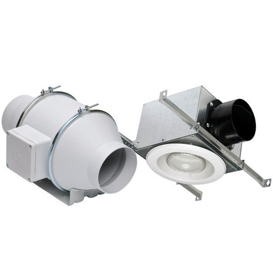 Remote Bathroom Exhaust Fan: Inline Mixed Flow Fans With Variable Speed