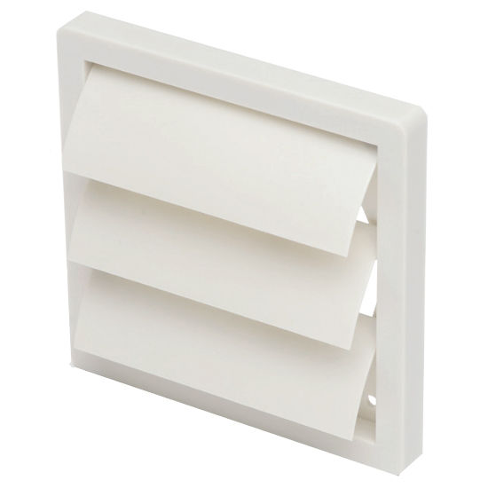 "S&P 4"" - 20"" UV Stabilized White Plastic Louvered Shutter Wall Cap, White"