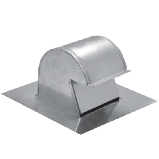 "S&P 4"" - 10"" Galvanized Steel Duct Fan Roof Cap Vent with Damper Flap Closure"