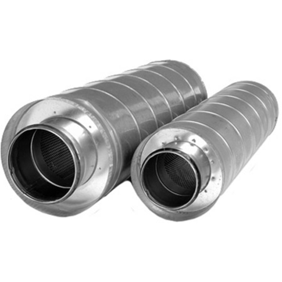 "S&P 8"" - 12-2/5"" Galvanized Steel In-Line Duct Silencer"