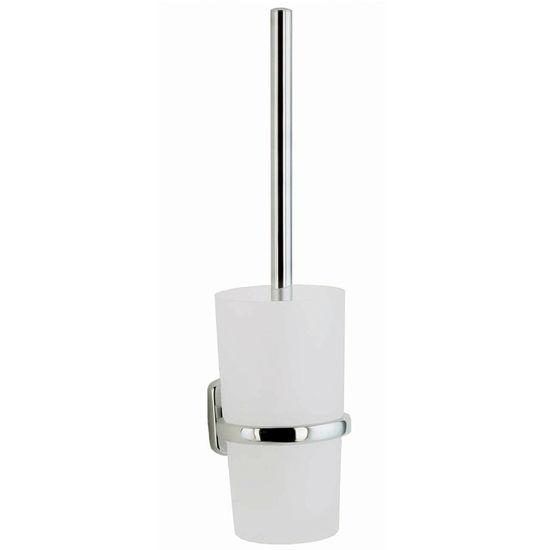 "Smedbo Cabin Polished Chrome Wallmount Toilet Brush Set 15"" L"