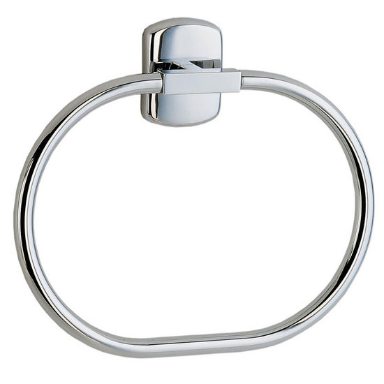 "Smedbo Cabin Polished Chrome Towel Ring 8�""W"