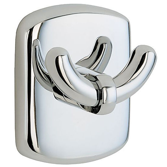 "Smedbo Cabin Polished Chrome Double Towel Hook 2�"" H"