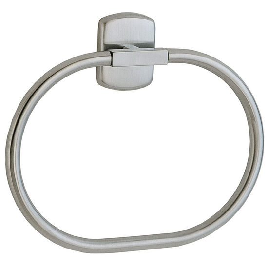 "Smedbo Cabin Brushed Chrome Towel Ring 8�""W"