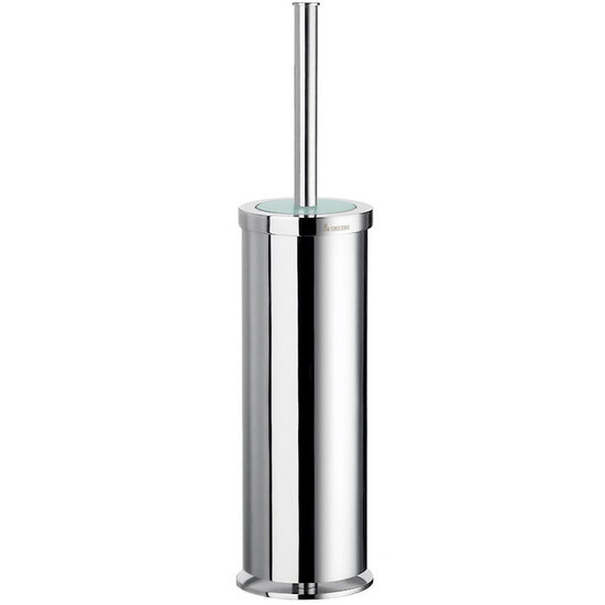 "Smedbo Outline Polished Chrome Free Standing Toilet Brush with Solid Brass Container 16""H"