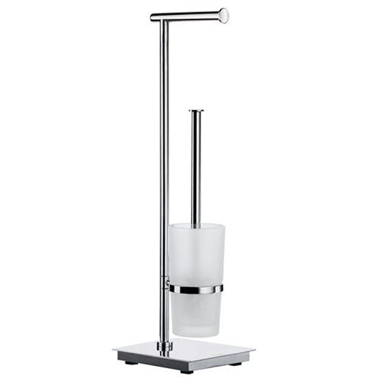 Bau Toilet Roll Holder Brush Free Standing Square