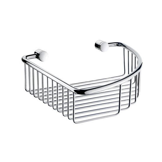 "Smedbo Villa Polished Chrome Corner Soap Basket 7-7/8"" W x 7-7/8"" D x 2�"" H"