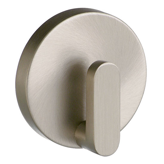 "Smedbo Loft Brushed Nickel Towel Hook 2-1/8"" D"