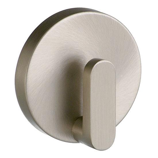 "Smedbo Loft Brushed Nickel Towel Hook 2-1/8"" D"