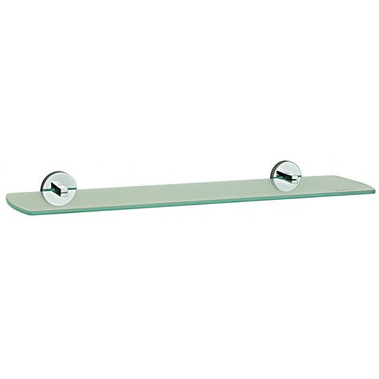 Smedbo Loft Polished Chrome Frosted Glass Bathroom Shelf 24""