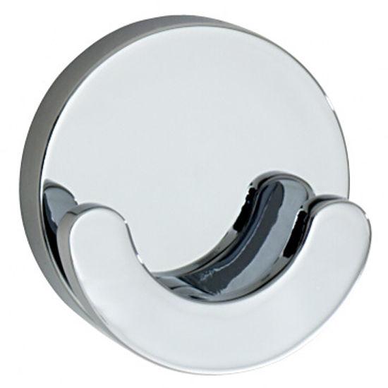 """Smedbo Loft Polished Chrome Double Towel Hook 2-1/8"""" D"""
