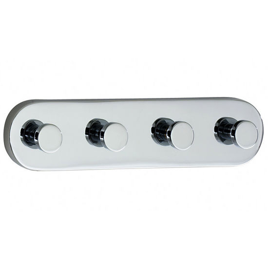 "Smedbo Loft Polished Chrome Quadruple Bathroom Hook 7""Length"