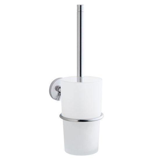 "Smedbo Studio Polished Chrome Wallmount Toilet Brush 15""L"