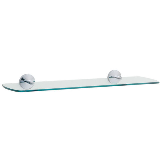 Smedbo Studio Polished Chrome Frosted Glass Bathroom Shelf 24""
