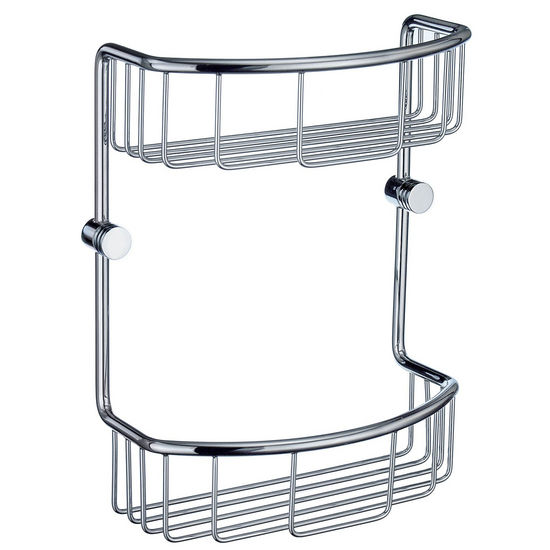 Smedbo Studio Polished Chrome Double Soap Basket
