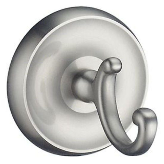 "Smedbo Villa Brushed Nickel Bath Towel Hook 2�"" D"