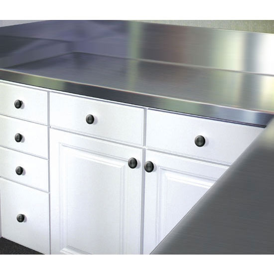 Advance Tabco Stainless Steel Countertop with 10'' Backsplash