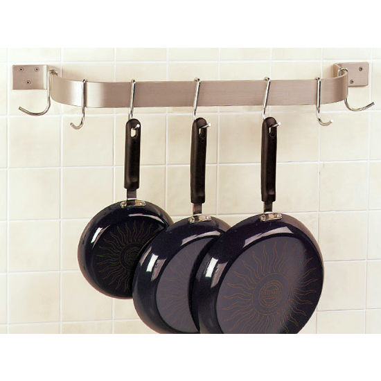 Single Bar Wall Mount Pot Racks