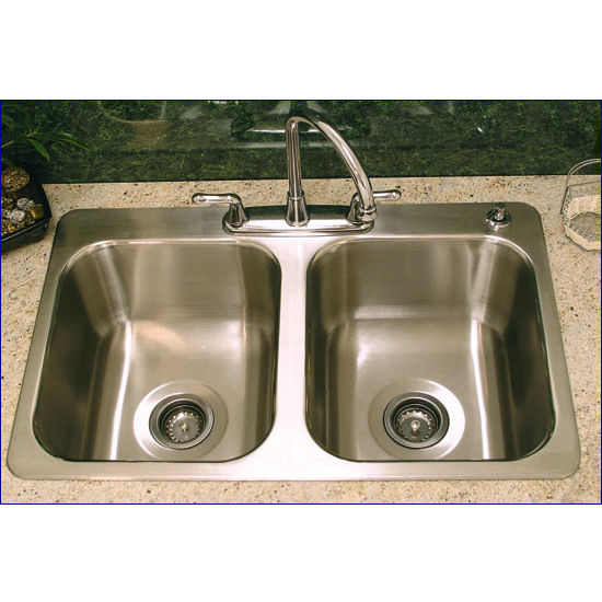 Stainless Steel Double Bowl Drop-In Sink