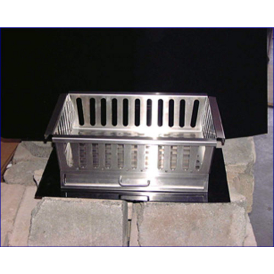 Stainless Steel Fireplace Grate with Ashtray