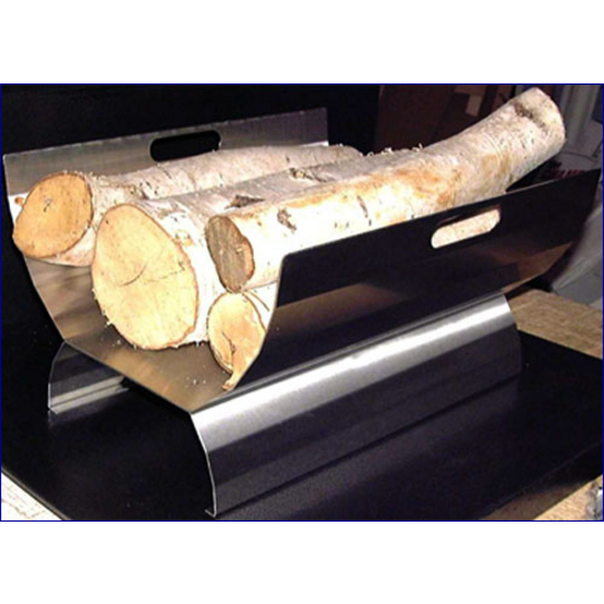 Stainless Steel Fireplace Log Holder