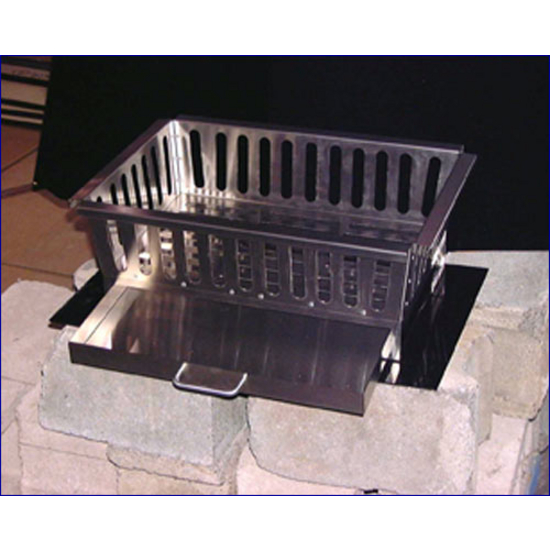 Fireplace Heavy Duty 18 Gauge Stainless Steel Fireplace Grate With Ashtray By Stainless Craft