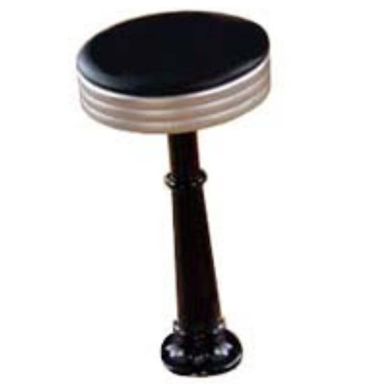 Sass Stools #3010-S - 16'' to 30'' Roman with Satin Chrome Seat
