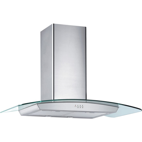 "Storch 36"" Wall Mounted European Range Hood, Stainless Steel & Glass"