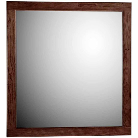 "Strasser Woodenworks 30"" Framed Mirror with Rounded Edge in Dark Alder"